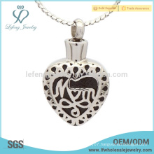 Silver heart memorial ashes locket,special cremation ashes jewelry