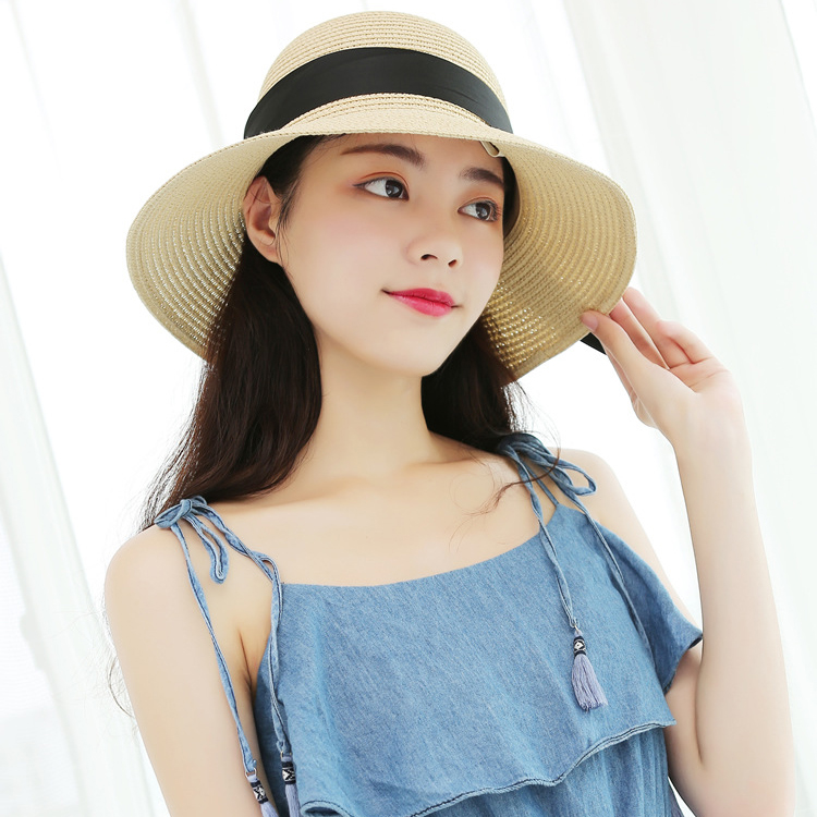 china factory cheap summer beach straw hat large brim hat for women supplier