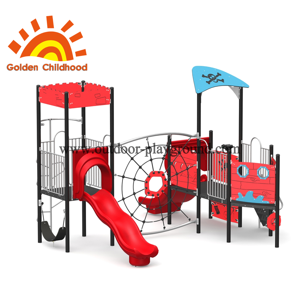 Outdoor Climbing Tower Equipment Red And Blue For Children