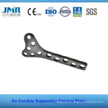 Implante Ortopédico Ao Condylus Femur Sopporting Placa, placa de osso de metal, placa ortopédica