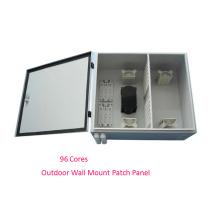 96 Cores Outdoor Wall Mounted Optic Fiber Enclosure