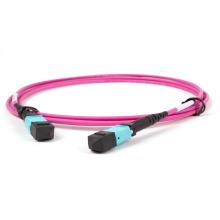 Factory LSZH PVC jacket fiber optic mpo patch cord fiber optic cable alarm single mode fiber cable