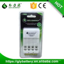 Cargador de batería de Geilienergy 2.4V para la batería recargable NIMH NICD AAA AA