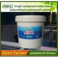 Revêtement imperméable à l'eau de polyuréthane de composant simple à haute élasticité
