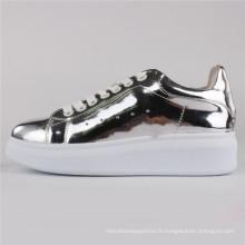 Femmes Chaussures PU Injection Chaussures Chaussures de sport Snc-65004-Slv