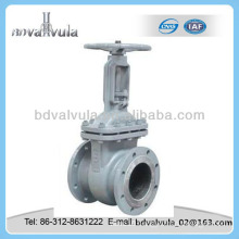 GOST casting steel simple disc flanged gate valve
