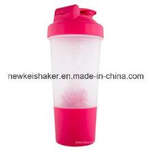 Atacado 500ml Protein Shaker com Plastic Wire Ball