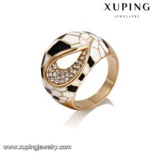 14395 xuping мода изделия новый дизайн большой кольцо в 18k покрытие с медного сплава для женщин