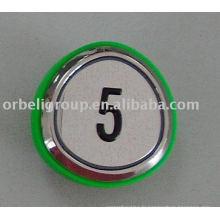 Bouton poussoir d'ascenseur (bague verte), éléments de levage