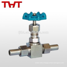 Stainless steel hand wheel socket weld pic staight needle valve