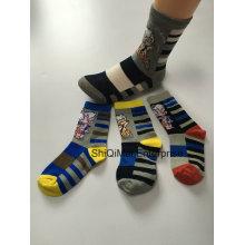 OEM personnalisés Logo fabricant professionnel Kids garçons alimentation chaussettes en coton doux