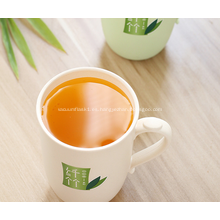 Taza de café plástica de fibra de bambú ecológica