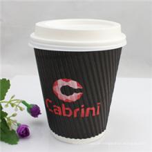 Wegwerfheißer Kaffee-Papierschale des Wegwerf-9oz mit Deckeln