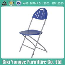 Blue Fan Back Moon Folding Chair for Weddings