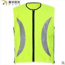 Color amarillo chaleco de seguridad reflectante de alta visibilidad para ciclismo