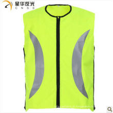 Colete de segurança reflexiva de alta visibilidade amarelo para ciclismo