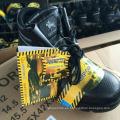 Calzado de trabajo Calzado de cuero de seguridad (cuero PU superior + suela de goma)