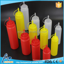 Plastic ketchup sauce squeezable bottle