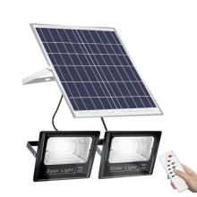 100w200w300w500w Un panel solar con dos reflectores solares