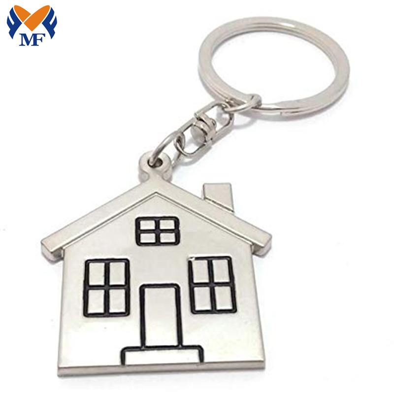 House Metal Keychain