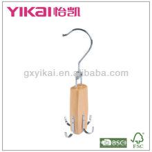 Porte-ceinture en bois et pendentif