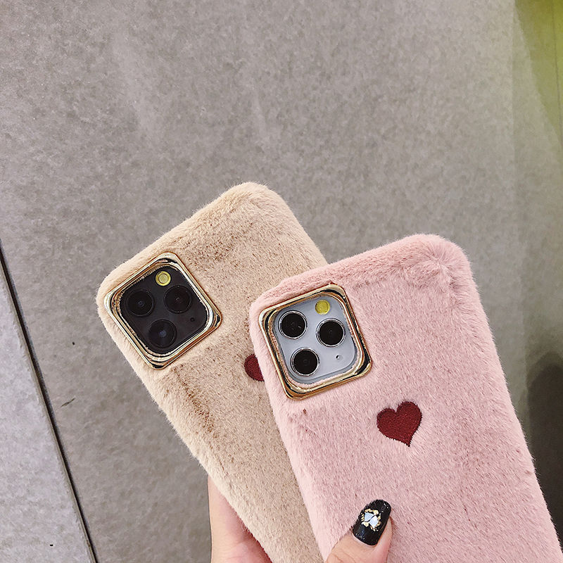 Solid Embroidery Phone Case