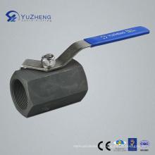 Válvula de esfera de aço carbono Hex 1PC com rosca BSPP