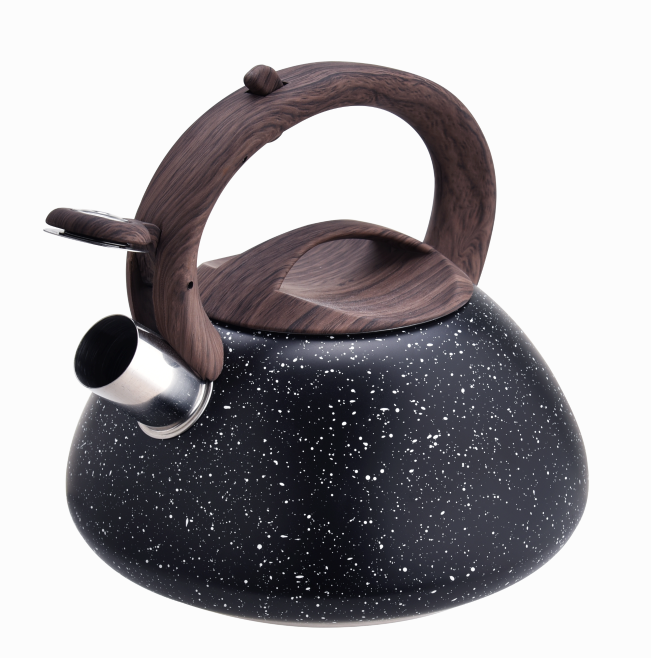 Durable Woodlike Handle Marlbe Stainless Steel Tea Pot 420