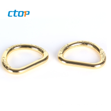 wholesale red color key chain shoe eyelet bag metal open d ring stainless steel d ring metal ring
