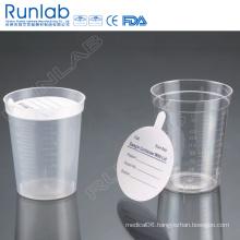 180ml Plastic Beaker for Easy Urine Collection