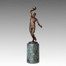 Sport-Statue Basketball-Spieler Bronze-Skulptur, Milo TPE-731