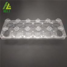 12 plateaux transparents de carton en plastique de clamshell d'oeuf