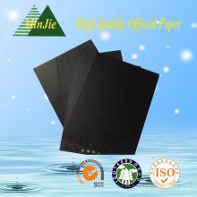 Cartulina pre-impresa negra especial para la etiqueta del paño y la moda