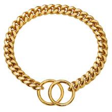 Drop Shipping 10mm Gold Silver Gun Black Pet Dog Chain Stainless Steel Gold Cuban Dog Chain And Cat Chain Dog Collar