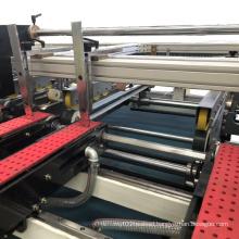 Corrugated cardboard semi-auto two pieces carton box folder gluer machine