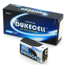 Bateria de célula seca 6lr61 1 / S Baterias sem mercúrio