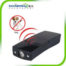 Alta frecuencia ultrasonido 3 en 1 perro repelente con luz LED