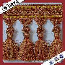 China Wholesale dekorative Quaste für Vorhang Handtasche Umhängetasche Dekorative Quaste Initial Chart Quaste