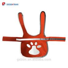 Ropa reflectante al aire libre amarilla anaranjada del chaleco salvavidas del perro del animal doméstico de la seguridad para los paseos de la noche