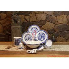 Luxo 28 PCS Chinês Louça Porcelana clássica