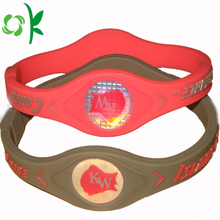 red silicone energy bracelet