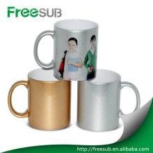 Customed silver mug dye sublimation mugs wholesale