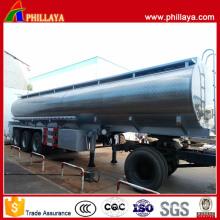 Tri Axle Fuel Transport Stainless Steel Tank Trailer