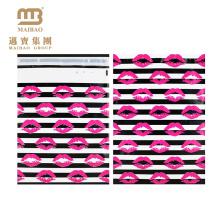 Atacado Forte Auto-adesivo Personalizado Rosa Sexy Beijo Batom Designer Impresso Cor Cheia 10X13 Decorativo Poli Mailers
