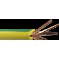 Cable de cobre trenzado de PVC verde 2/0 AWG