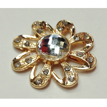 Flowers Rhinestone Alloy Shoe Buckles