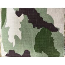 Tissu camouflage en coton mélangé ripstop coton mélangé CVC 200gsm Qua