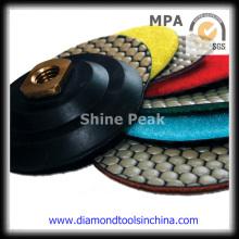 Diamond Velcro Polish Pad para pulir piedra de mármol de granito