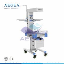 AG-IRW002 Terapia médica recién nacida usada calentador radiante neonatal con dos gabinete de almacenamiento