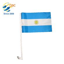 polyester flag custom Argentina national car flag